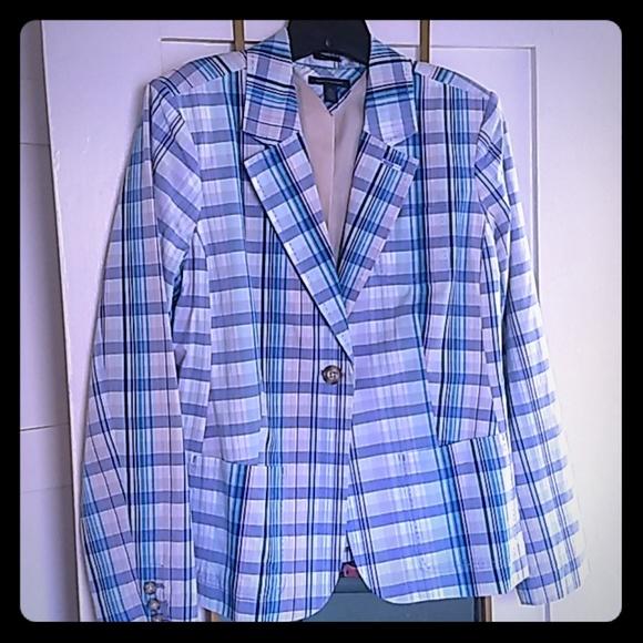Tommy Hilfiger Jackets & Blazers - Blazer blue plaid lined